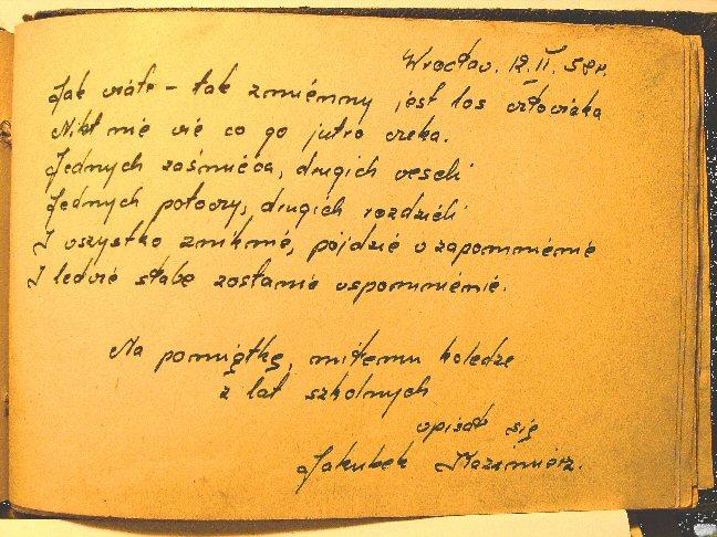 Złote Myśli Historyczne Wpisy W Pamiętnikach Licealistów